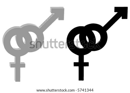Man / woman sign - stock vector