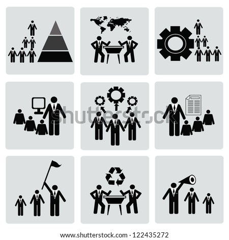 Management and Human Resource Icon set,Vector - stock vector