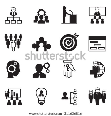 Management Icon Set - stock vector