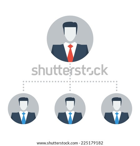 Manager hierarchy - stock vector