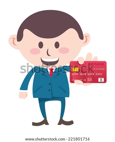 manager showing credit card