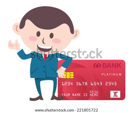 manager with credit card