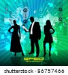 Manager with women. Vector illustration. - stock vector
