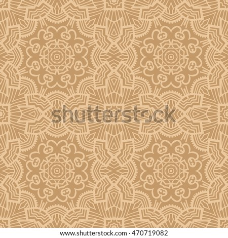 Mandala background. Vintage decorative elements. Hand drawn background. Islam, Arabic, Indian, ottoman motifs. Seamless pattern.