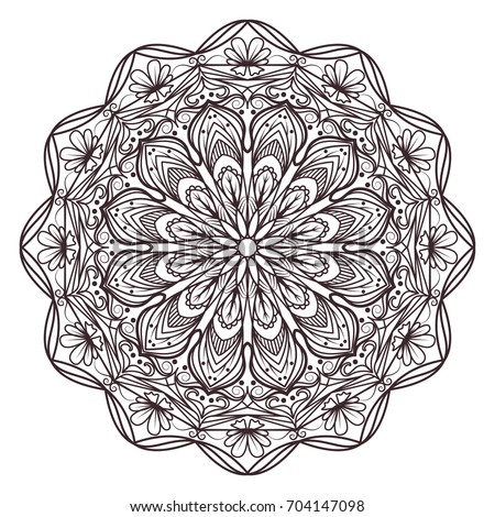 Mandala Designs Adult Coloring Books Decorations Stock Vector ...
