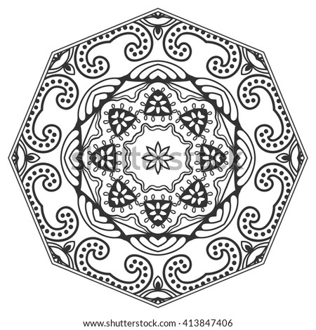 Geometric Art Coloring Book : Zentangle stock images royalty free & vectors shutterstock
