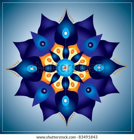 Mandala geometry - stock vector