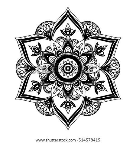 mandala highly detailed zentangle inspired illustration. Black Bedroom Furniture Sets. Home Design Ideas