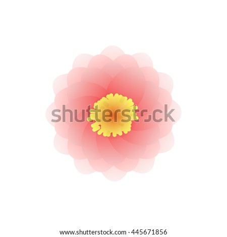 Mandala icon in cartoon style isolated on white background. Ornament symbol - stock vector