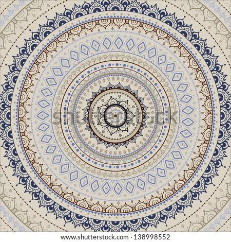 Mandala. Indian decorative pattern. - stock vector