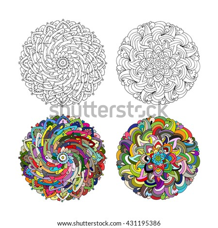 Mandala ornament, colorful pattern for your design - stock vector