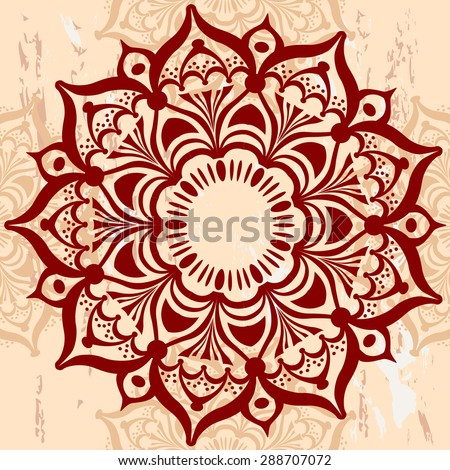 Mandala Round Ornament - stock vector