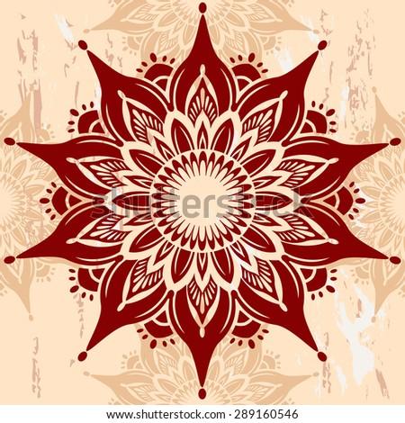Mandala Round Ornament - stock vector