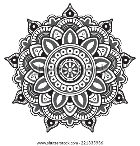 Mandala. Round Pattern - stock vector