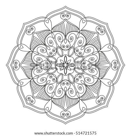 Mandala Vector Mandala Floral Mandala Flower Stock Vector HD ...