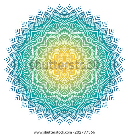 Mandala. Vintage decorative elements. Hand drawn background. Islam, Arabic, Indian, ottoman motifs. - stock vector