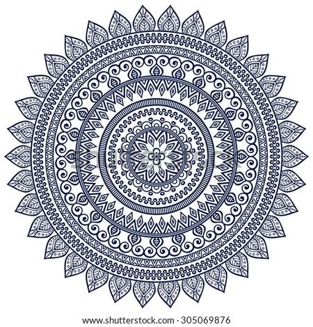 Mandala. Vintage decorative elements. Oriental pattern, vector illustration.  Islam, Arabic, Indian, turkish, pakistan, chinese, ottoman motifs - stock vector