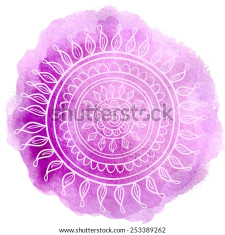 Mandala violet - stock vector