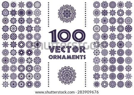 Mandalas. Vintage decorative elements. Hand drawn background. Islam, Arabic, Indian, ottoman motifs. - stock vector