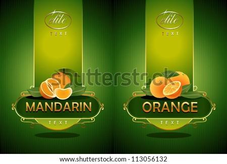 Mandarin, orange. Vector - stock vector