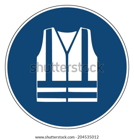 Mandatory action sign, WEAR REFLECTIVE VEST - stock vector