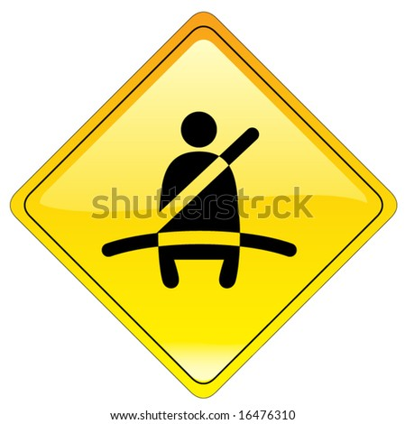 Mandatory buckle up sign - also available as JPEG - stock vector