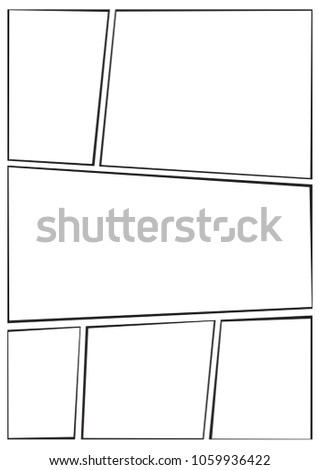 Manga Storyboard Layout Template Rapidly Create Stock Vector