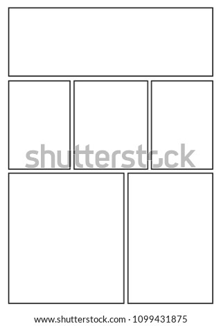 Manga Storyboard Layout Template Rapidly Create Stock Vector Hd