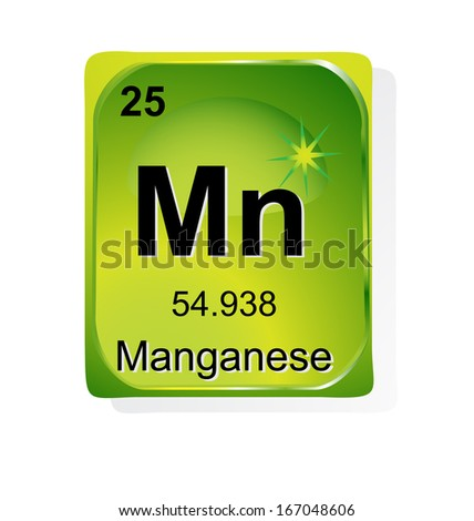 Manganese chemical element with atomic number, symbol and ...