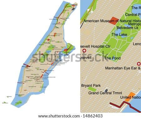 Manhattan Map Stock Images RoyaltyFree Images Vectors - Manhattan us map