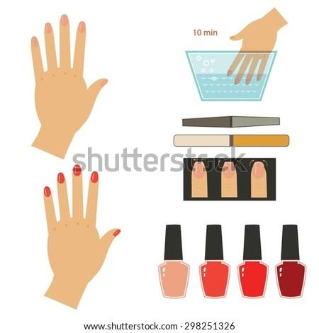 Manicure set. Vector illustration. - stock vector
