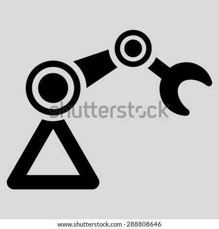 Manipulator icon from Business Bicolor Set. This flat vector symbol uses black color, rounded angles, and isolated on a light gray background. - stock vector