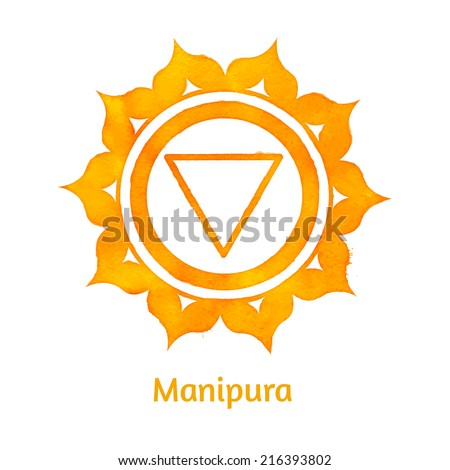 Manipura chakra. Vector Illustration. Isolated. - stock vector