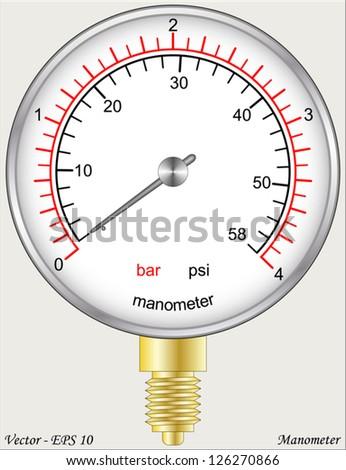 Manometer - stock vector