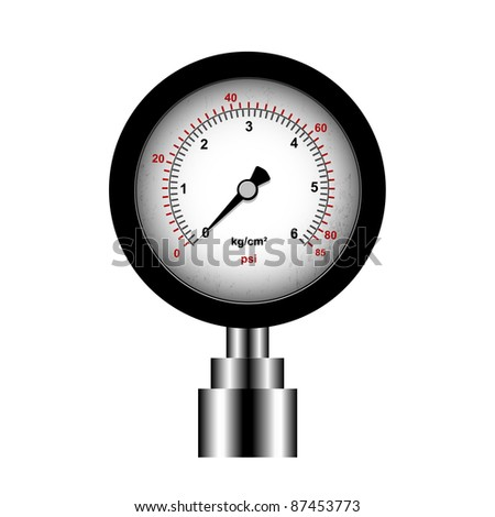 manometer isolated on a white background, vector - stock vector