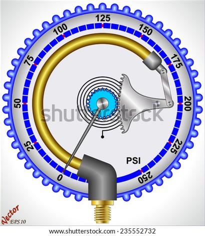 Manometer - Pressure measurement - stock vector