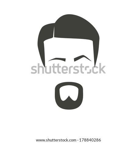 eyebrow - stock vector Bushy Eyebrow Clip Art