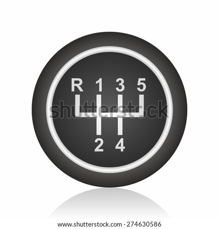 Manual Transmission icon - stock vector
