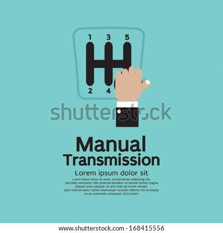 Manual Transmission Vector Illustration - stock vector