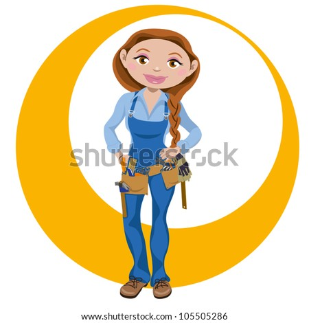 Manual working woman - stock vector