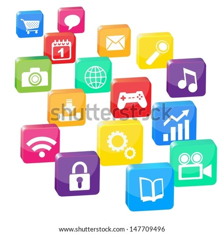many applications - stock vector