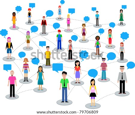 many different people - stock vector