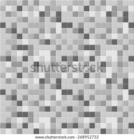 Many gray shades abstract tiling geometric texture. Black, light and dark grey and white color mosaic tile background. vector art image illustration pattern for swimming pool, spa, kitchen or bathroom - stock vector
