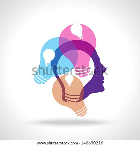 many ideas thinking  - stock vector