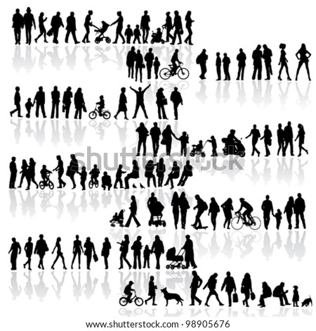 many people vol.2 - stock vector