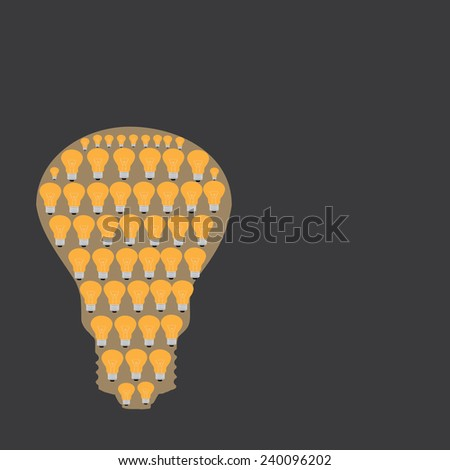 Many small ideas equal a big one  dark gray - stock vector