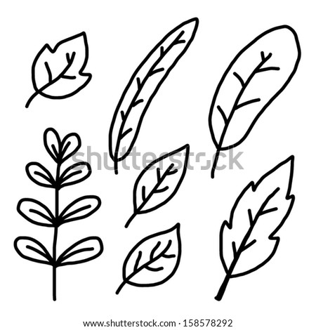 Leaves Black And White Drawing | www.pixshark.com - Images ...