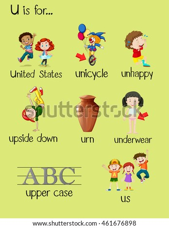 foods that start with the letter u what food words start with u food 21763 | stock vector many words begin with letter u illustration 461676898