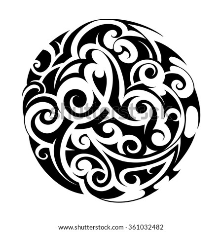 maori ethnic circle tattoo shape stock vector 361032482 shutterstock. Black Bedroom Furniture Sets. Home Design Ideas
