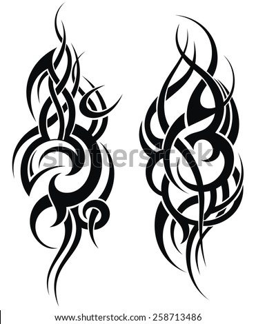 Maori styled tattoo pattern for a shoulder  - stock vector